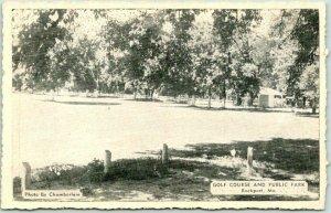 Rockport, Missouri Postcard GOLF COURSE and Public Park Lionel Press c1940s