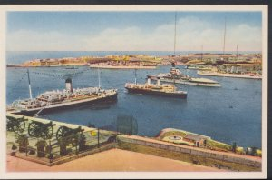 Malta Postcard - General View Grand Harbour, Valletta  DC681