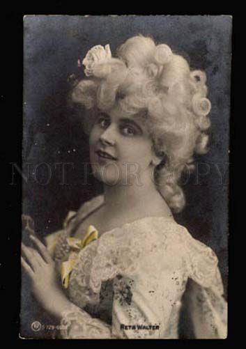 022018 Reta WALTER Opera Star in Wig. Vintage Photo