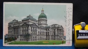 STD Vintage State House Indianapolis Indiana Posted 1908