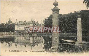Old Postcard Rambouillet Chateau Park Perspective south coast