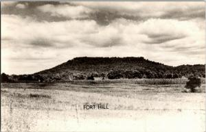 Prehistoric Indian Enclosure, Hopewell Indian Fort Hill Ohio Postcard N11