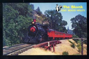 Willits-Fort Bragg, California/CA Postcard, The Super SkunkSteam Railroad/RR