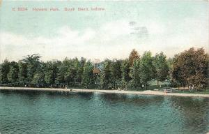 South Bend Indiana~Howard Park~Victorian Ladies Walk Beach~1910 Postcard