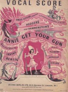 Rodgers and Hammerstein's Annie Get Your Gun Vocal Score Sheet Album Music Book