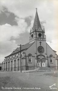 Leadville Colorado~St Joseph Catholic Church~West End~1947 Real Photo~RPPC
