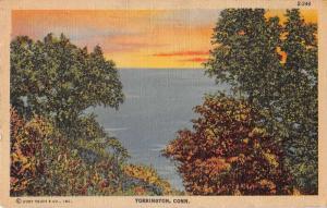 Torrington Connecticut Scenic View Linen Vintage Postcard J50686
