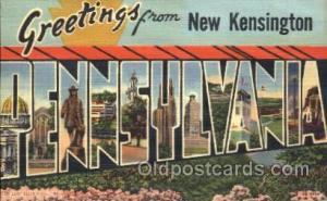 New Kensington, Penneylvania, Usa Large Letter Town, Towns, Postcard Postcard...