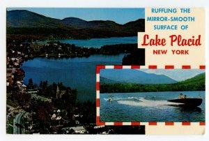 Postcard Lake Placid Mirror Lake Whiteface Mt. New York Standard View Card