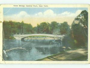 Bent W-Border BRIDGE SCENE New York City NY HJ1206
