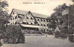 Montclair New Jersey Marlboro Inn Street View Antique Postcard K60834