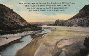 ELEPHANT BUTTE, Texas, PU-1914; Dam Site On Rio Grande