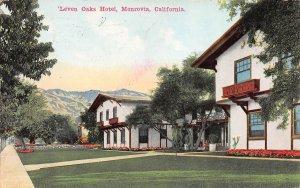 'Leven Oaks Hotel, Monrovia, California, Early Postcard, Used in 1913
