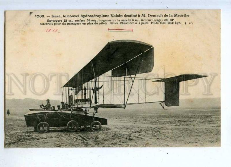 205434 FRANCE AVIATION seaplane pilot Voisin D de Meurthe