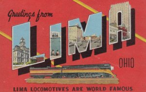Large Letter Greetings, LIMA , Ohio, 1930-40s