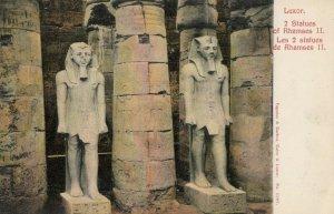 EGYPT , 00-10s ; Luxor , 2 Statues of Rhamses II