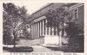 Massachusetts Cambridge The Harry Eljkins Widener Memorial Libeary Harvard Un...