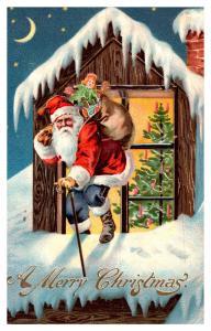 Santa Claus  leaving Home
