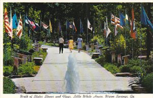 Walk Of States Stones and Flags Little White House Warm Springs Georgia