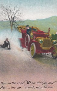 Man yells at Automobile , 1908