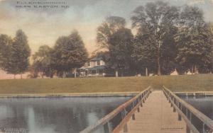Easton Maryland Ellenborough Pier Historic Blding Antique Postcard K12851