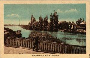 CPA Louhans La Seille et Usine Lanier FRANCE (952921)
