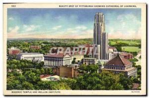 Postcard Old Beauty Spot Of Showing Pittsburgh Cathedral Of Learning Masonic ...