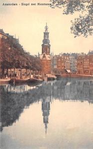 Amsterdam Holland Singel met Munttoren Amsterdam Singel met Munttoren