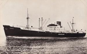 MS Uruguay Swedish America Line DFDS Ship RPC Postcard