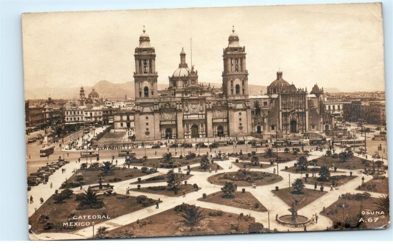 *Mexico Mexican Cathedral Church Grounds RPPC Real Photo Vintage Postcard C53
