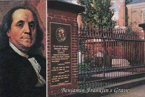 Pennsylvania Philadelphia Benjamin Franklins Grave Christ Church Burial Groun...