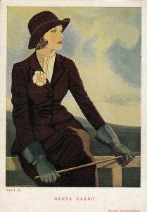 NANNI ; Art Deco Female Portrait , Greta Garbo , 1910-30s