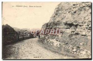 Old Postcard Poligny Route De Chamole