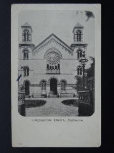 Australia MELBOURNE Congregational Church c1907 Postcard