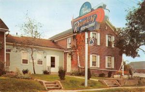Amana Iowa Ronneburg Restaurant Street View Vintage Postcard K103928
