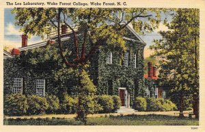 Lee Laboratory Wake Forest College Wake Forest North Carolina linen postcard
