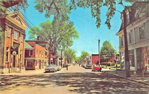 Wolfville Nova Scotia Canada Street View Old Cars Postcard