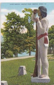 Minnesota Bemidji Chief Bemidji Statue Bemidji Park 1953