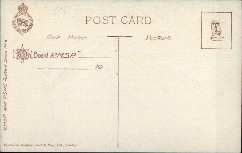 Montevideo Paraguay TUCK - RMSP Royal Mail Steam Packet Ship Issued PC #7