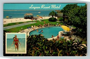 Clearwater Beach FL-Florida, Lagoon Resort Motel, Chrome Postcard