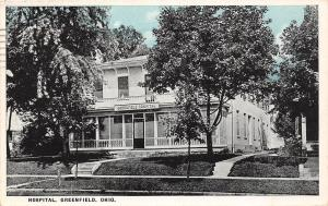 A87/ Greenfield Ohio Postcard c1930 Hospital Building
