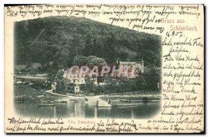 Old Postcard Gruss Aus Schlierbach Villa Petersburg