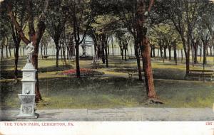 Lehighton Pennsylvania~Water Drinking Fountain at Town Park~1905 Postcard