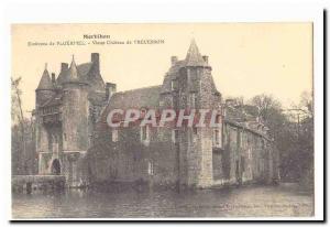 Around Ploermel Old Postcard Old Castle Trecesson