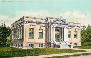 Red Bluff California~Kraft Memorial Public Library~1910 Postcard