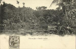 mauritius maurice, FLIC-EN-FLAC, Bassin Loulou (1906) Stamp