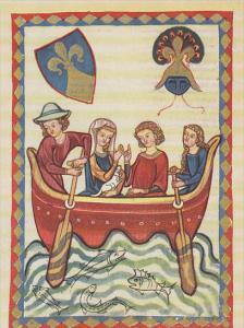 Minnesinger Miniatures Herr Niuniu Medieval Art Germany