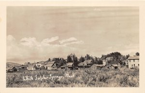 G28/ White Sulpher Springs Montana RPPC Postcard c1950s Homes Church