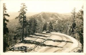Peshastin Washington~Blewett Pass Highway~Echo Point~Car~Horseshoe~1930s RPPC
