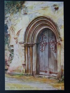 Hampshire New Forest BEAULIEU ABBEY REFECTORY DOOR - W.Tyndale c1904 Postcard